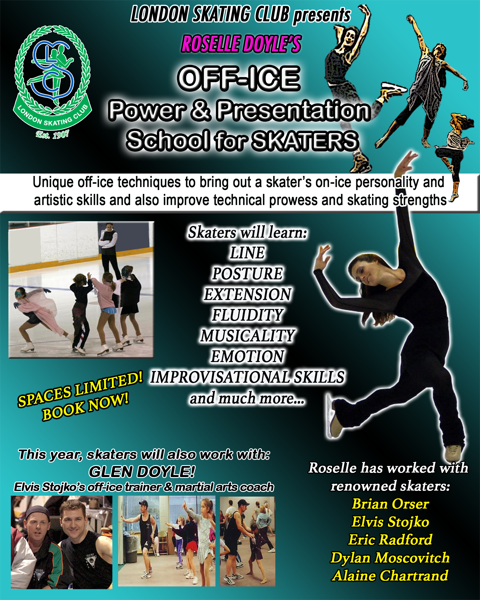 Off-Ice Power and Presentation School for Skaters, with Roselle Doyle