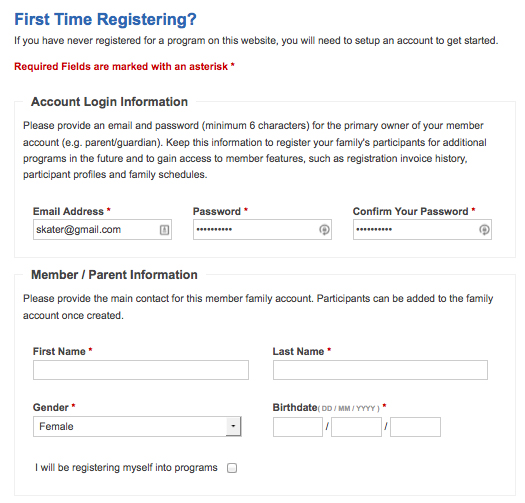 First Time Registering?