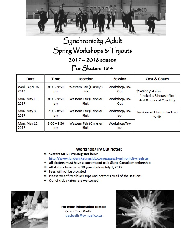 Synchronicity Adult Workshops/Tryouts